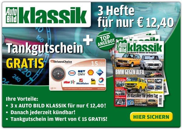 3 Ausgaben Auto Bild klassik mit effektiv 2,40€ Gewinn