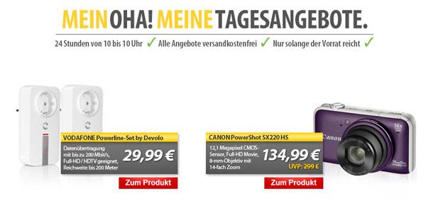 OHA! Angebote von MeinPaket   Canon PowerShot SX220 HS für 134,99€