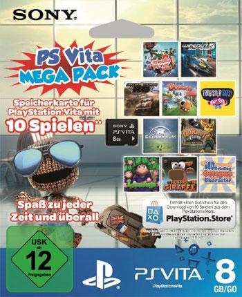 PS Vita Mega Pack für 39,99€   8GB Speicherkarte + 10 Spiele als Download