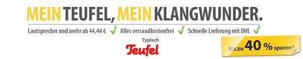 Teufel Sale bei MeinPaket   z. B. iTeufel Clock v3 für 80,88€