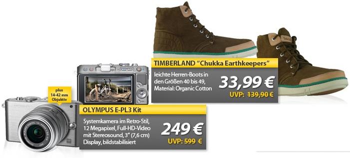 OLYMPUS E PL3 12MP Systemkamera Kit & TIMBERLAND Chukka Herren Boots   OHA Deals