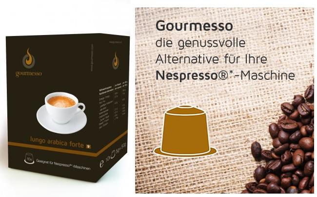 15 Packungen Gourmesso Kaffekapseln (Nespresso Alternative) kaufen und nur 13 bezahlen + Versandfrei
