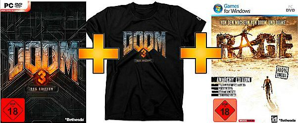 DOOM 3: BFG Edition inkl. T Shirt & inkl. Rage in der Exklusiv Edition ab 10€