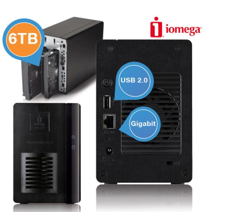 Lenovo Iomega ix2 Network Storage mit 6TB, 1,6 GHz Processor und Gigabit Ethernet für 305,90€