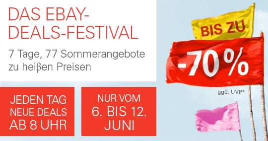 Tag 2! eBay Deals Festival mit Rabatten bis 70%   z.B. Teufel Aureol Real Kopfhörer für 77,77€