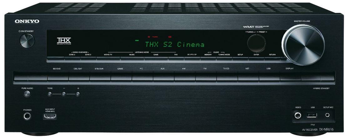 Onkyo TX NR616, 7.2 Netzwerk THX AV Receiver für 248,90€