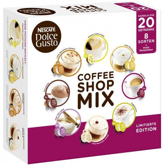 Nescafé Dolce Gusto Coffee Mix mit 8 Sorten 36 Kapseln 20 Portionen für 8,99€