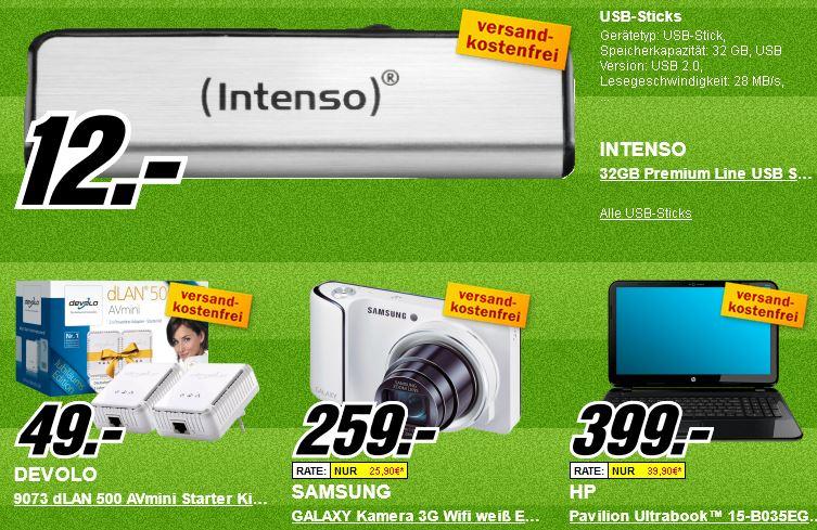 Platzverweis für teuer   Die heutigen Media Markt Angebote, z.B. Ultrabook HP Pavilion mit i5 für 399€