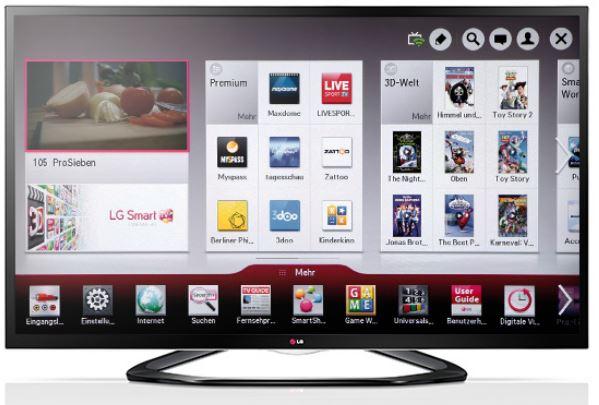 LG 55LA6408, 55 Zoll 3D Smart TV mit DVB T/C/S und USB Recording inkl. LG BP430 3D Blu ray Player für 1.149€