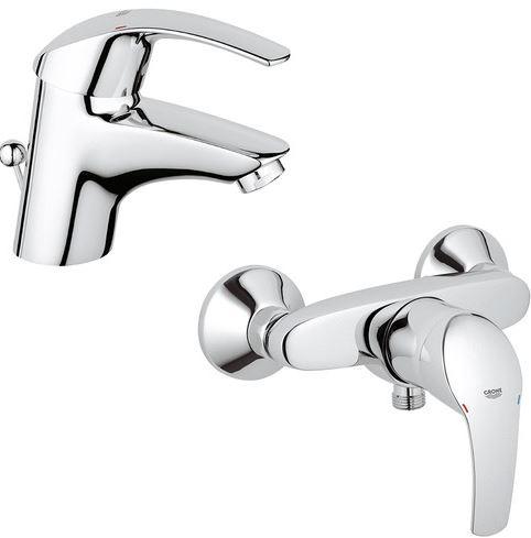 Grohe Armatur Eurosmart für Waschtisch oder Brause für je 39,99€