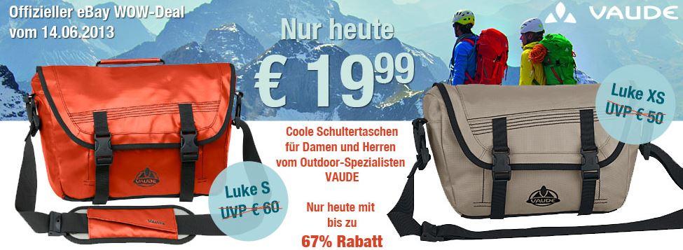 Update! Vaude Luke Umhängetasche für 19,99€   2 Modelle 9 Farben