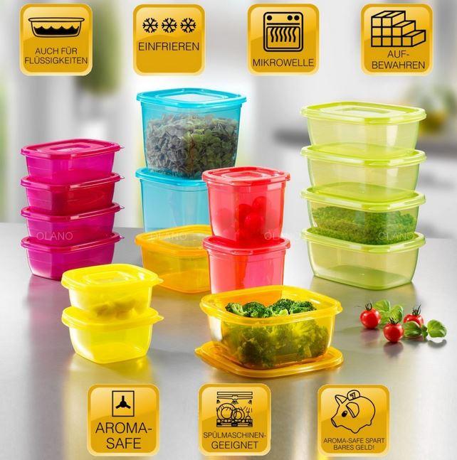 BEEM Click Fresh, 32 tlg. Frischhalte und Vorratsdosen Set für 19,99€