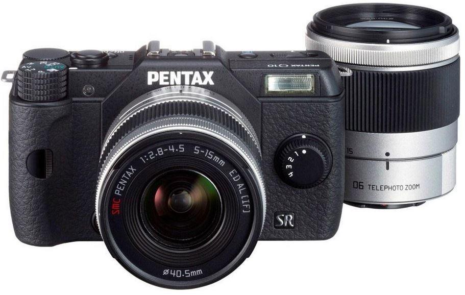 Pentax Q10 Systemkamera 12 Megapixel inkl. 5 15 mm und 15 45 mm Objektiv Kit  für effektiv 429€