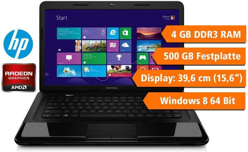 HP CQ58 344SG, 15,6 Einsteiger Notebook mit 500GB HDD und 4GB RAM für 279€