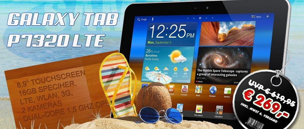 Samsung Galaxy TAB 8.9 P7320 LTE 4G (+WiFi+3G) für 269€