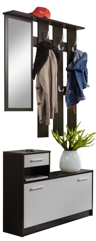 Garderoben Set Riccia mit Spiegel und Schuhschrank für 39,95€