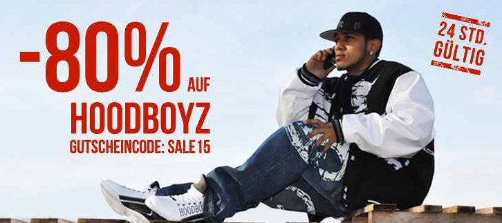 80% Rabatt auf alle Artikel der Marke Hoodboyz