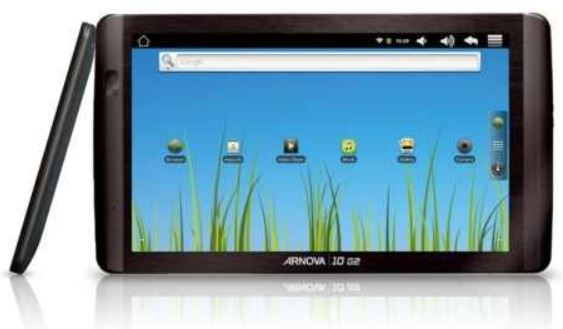 ARCHOS Arnova 10 G2   10 Zoll Tablet mit kapazitivem Touchscreen und 8GB für 89€