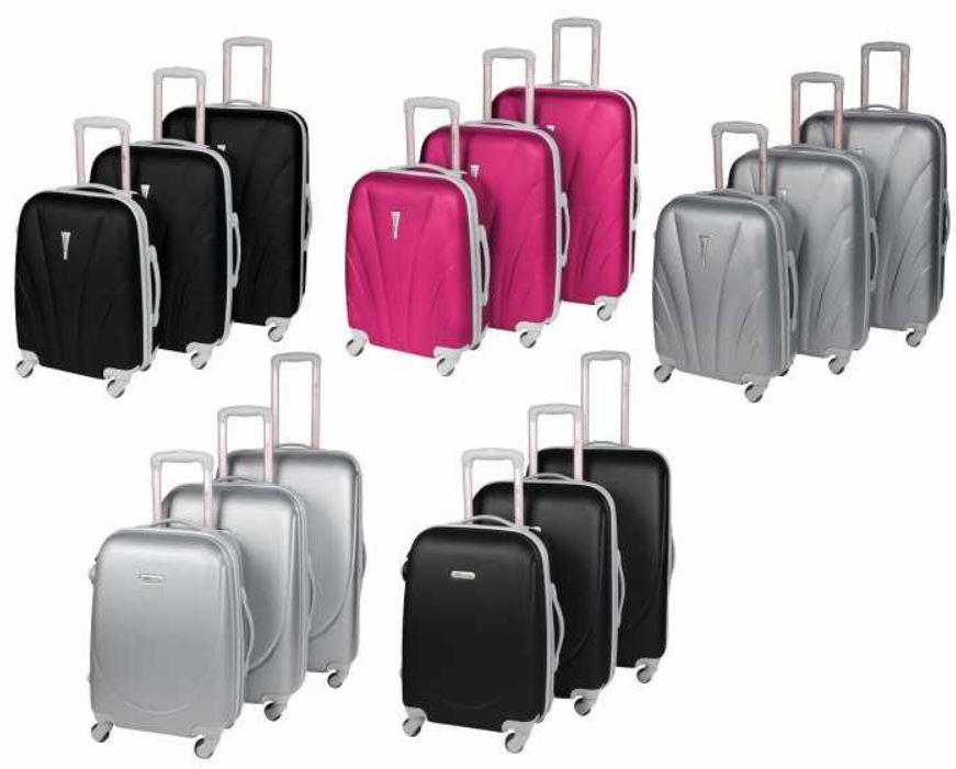 LEONARDO   3tlg Reisekoffer Set mit 4 Rollen für zusammen 89€