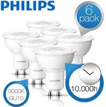 6er Pack Philips LED Strahler für 35,90€