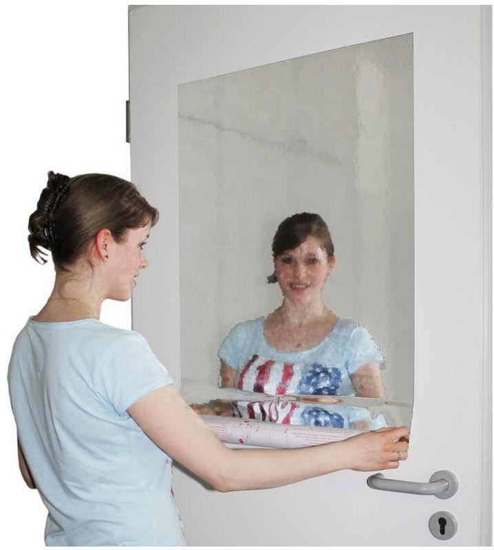 2er Set Spiegelfolie, selbstklebend 150x58cm für 12,95€