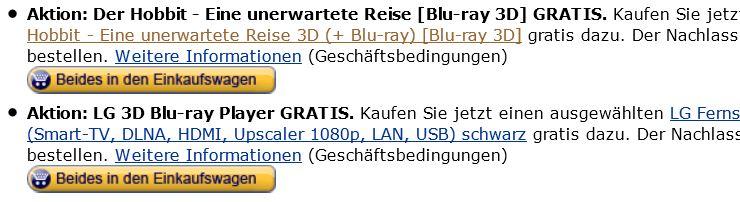 LG 47LA6408, 3D Smart TV mit 47 Zoll & LG BP430, 3D Blu ray Player & Der Hobbit 3D für 649€