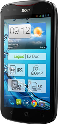 Update! Acer Liquid E2 Duo für 149€   Android 4.2 Smartphone mit Dual Sim, Quad Core und 8MP Kamera