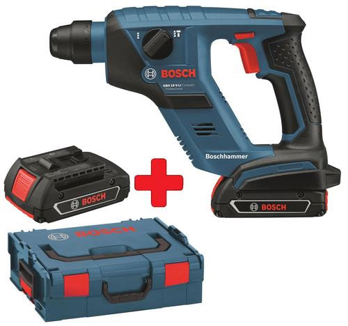 Bosch GBH 18 V LI   Akku Bohrhammer mit 2 Akkus und L Boxx für 199€ + 40€ Cashback