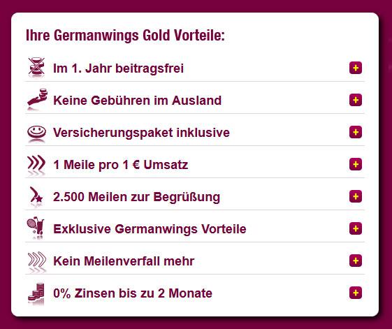 Kostenlose Kreditkarte für 1 Jahr von Germanwings   inkl. Versicherungen und Bonusmeilen