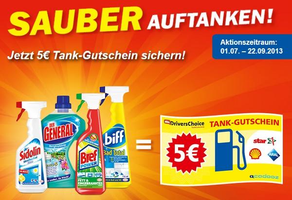 4 Henkel Produkte ab 6,60€ kaufen   5€ Tankgutschein erhalten