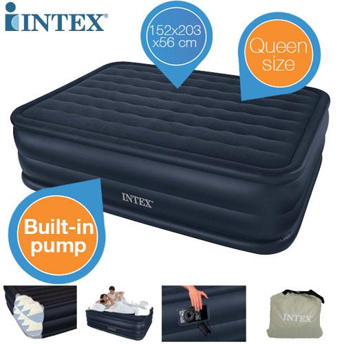 Intex Queen Downy für 38,90€   aufblasbares 2 Mann Bett mit Elektro Pumpe