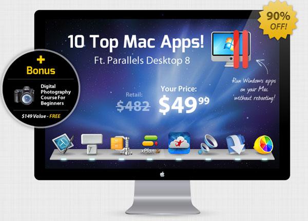 Mac Bundle   10 Programme inkl. Parallels Desktop für 38,88€
