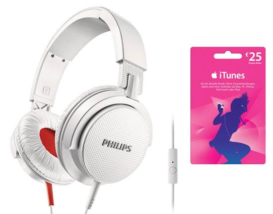 Philips SHL3105 Kopfhörer für 39,99€ + 25€ iTunes Karte gratis!
