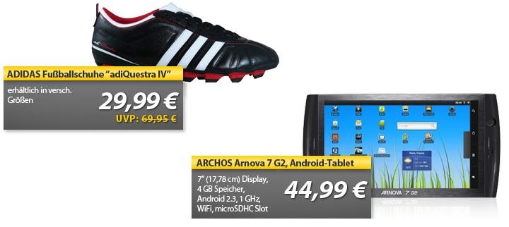 ARCHOS Arnova 7 G2 Android Tablet mit WiFi für 44,99€   OHA Deals von MeinPaket