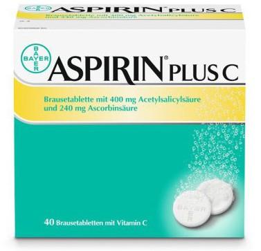 Aspirin Plus C Brausetabletten (40 Stk) für 8,61€ effektiv