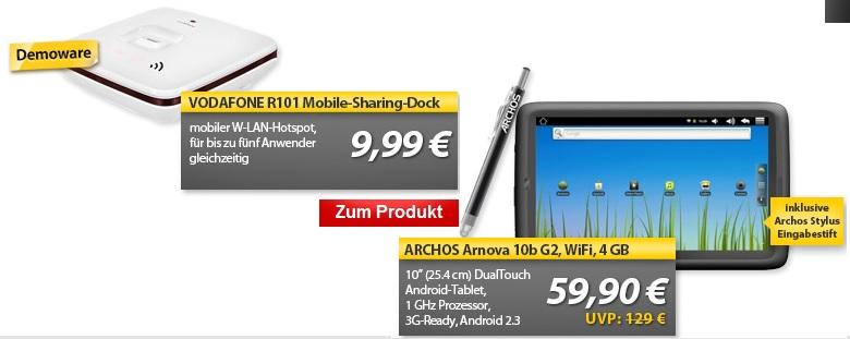VODAFONE Mobile Sharing Dock R101 & ARCHOS Arnova 10b G2 Android Tablet   OHA Deals