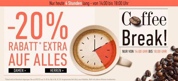 Bis 18 Uhr! 20% auf fast das gesamte Sortiment bei dress for less + 10€ Newslettergutschein