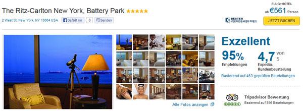 5 Tage New York mit Flug im 5 Sterne Hotel für 561€ pro Person   bei 4 Reisenden