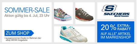 20% Extra Rabatt auf alle Artikel im Skechers Markenshop @ ebay