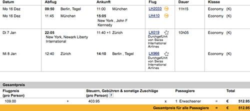 Für 500€ von Deutschland nach New York und zurück