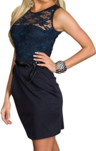 Etui Kleid   Zweiteiler im oberem Bereich aus Spitze für 22,90€