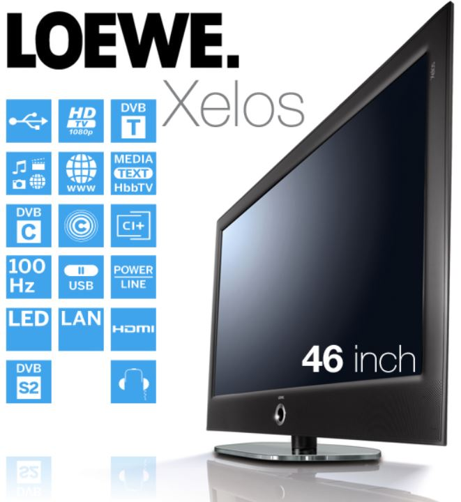 Loewe Xelos 46 Zoll LED Smart TV mit 100 Hz für 1.008,90€