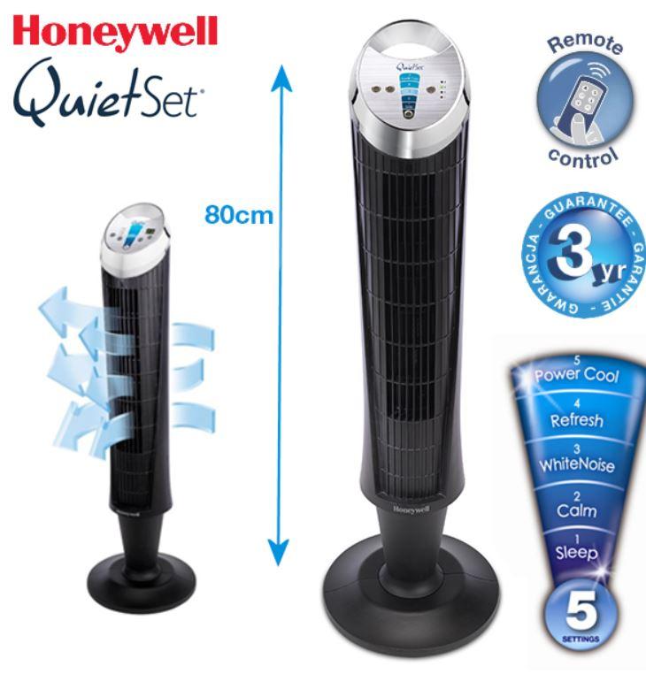 Honeywell Standlüfter mit 5 Steuerungs Stufen und Fernbedienung für 65,90€