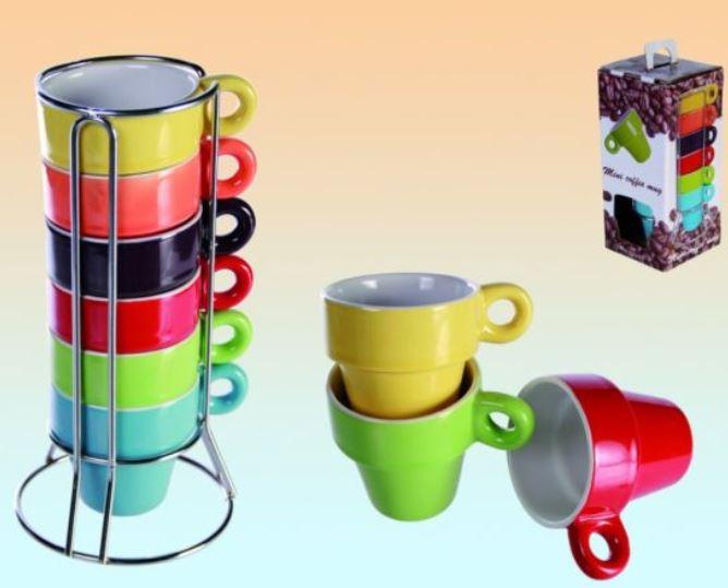 Vorbei! Espresso Tassenset   6 Tassen mit Halter nur 1€!