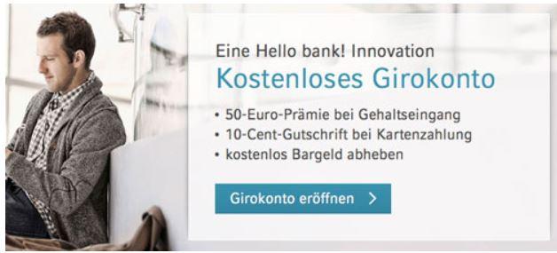 Girokonto von Cortal Consors mit 50€ Prämie und Cashback bei Gehaltseingang
