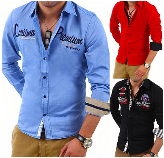 Freizeithemden für Herren, Slim Fit verschiedene Modelle für je 19,95€