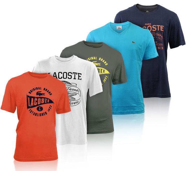 Lacoste T Shirts für Damen und Herren, verschiedene Modelle je 27,95€   wieder da!
