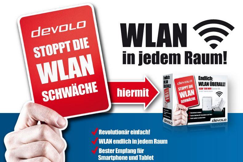 20% Rabatt Aktion auf DEVOLO D Lan und Wireless Adapter.