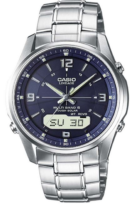 Casio LCW M100DSE 2AER, Herren Funk Solar Armbanduhr für 123,99€