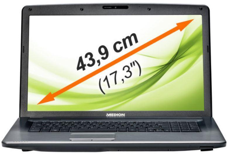 MEDION MD 99095   17,3Notebook mit i5, 2,5GHz, 8GB, 750GB , 32GB SSD für 399€
